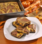 Pumpkin Swirl Cheesecake Brownies