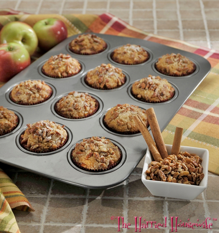 Applesauce Pecan Muffins