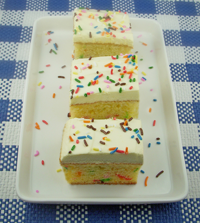 Rainbow Sprinkle Cake Slices