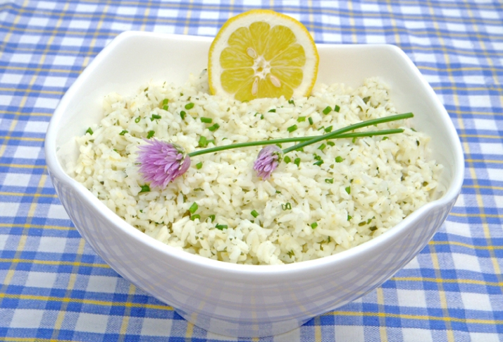 Lemon Chive Rice