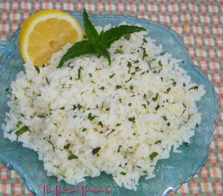 Easy Lemon Mint Rice