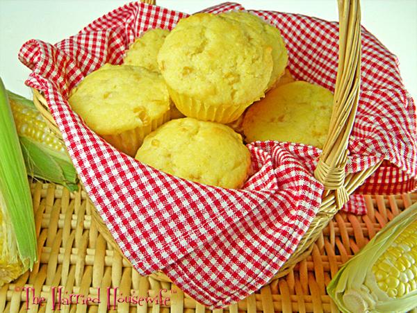 Easy Whole Kernel Cornbread Muffins