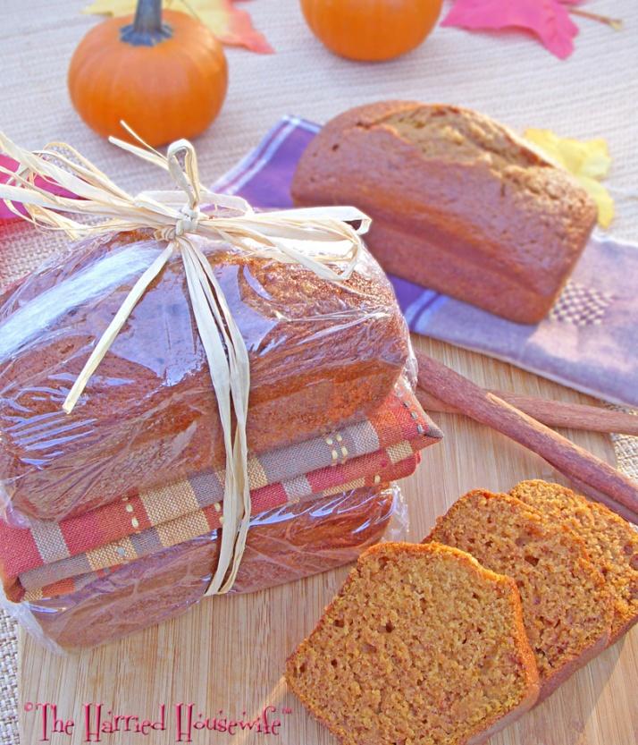 Mini Pumpkin Spice Bread