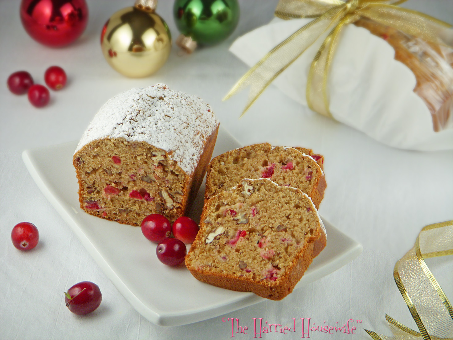Cranberry Applesauce Bread | Harried Housewife Blog