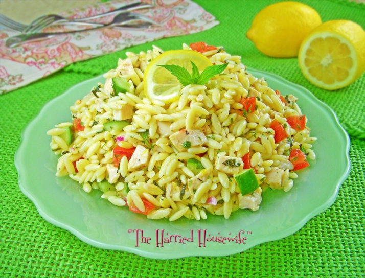 Food Lion, Harried Housewife Recipes - Lemony Orzo and Chicken Salad