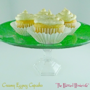 Creamy Eggnog Cupcakes (from Cooking, Baking, and Making)